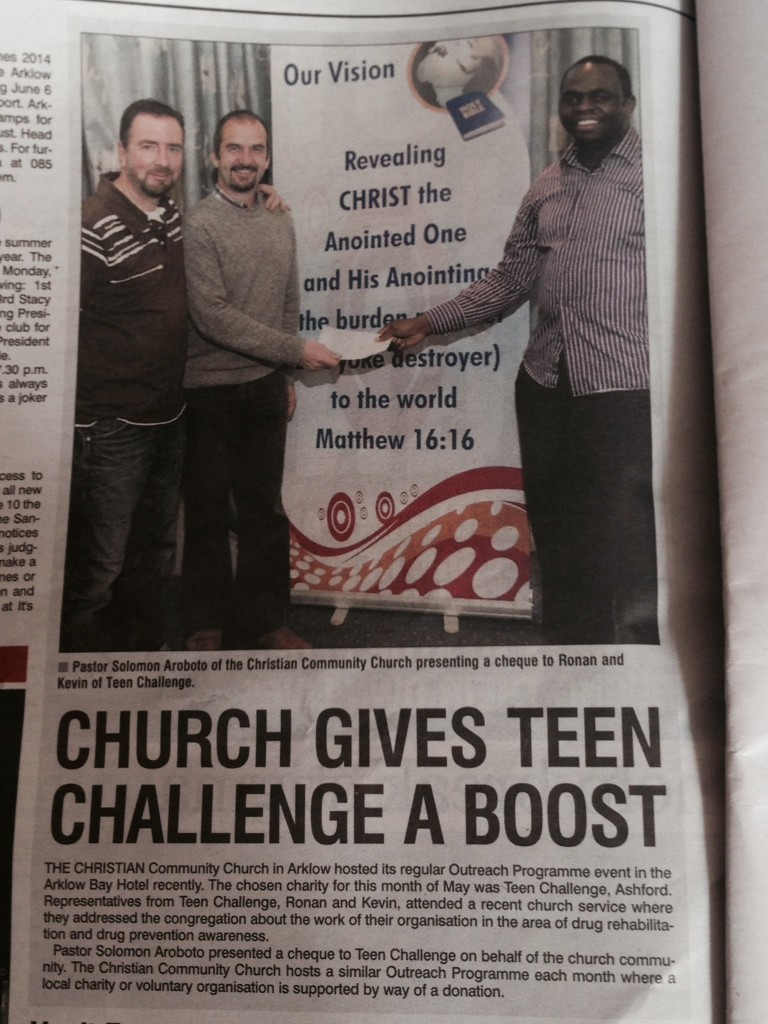 Christian Community Church Arklow and Teen Challenge