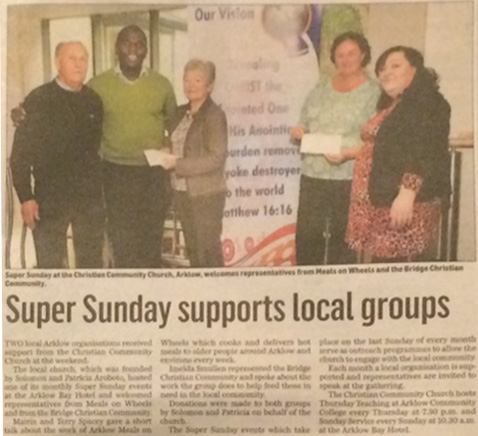 Arklow Meals on Wheels and The Bridge Christian Community